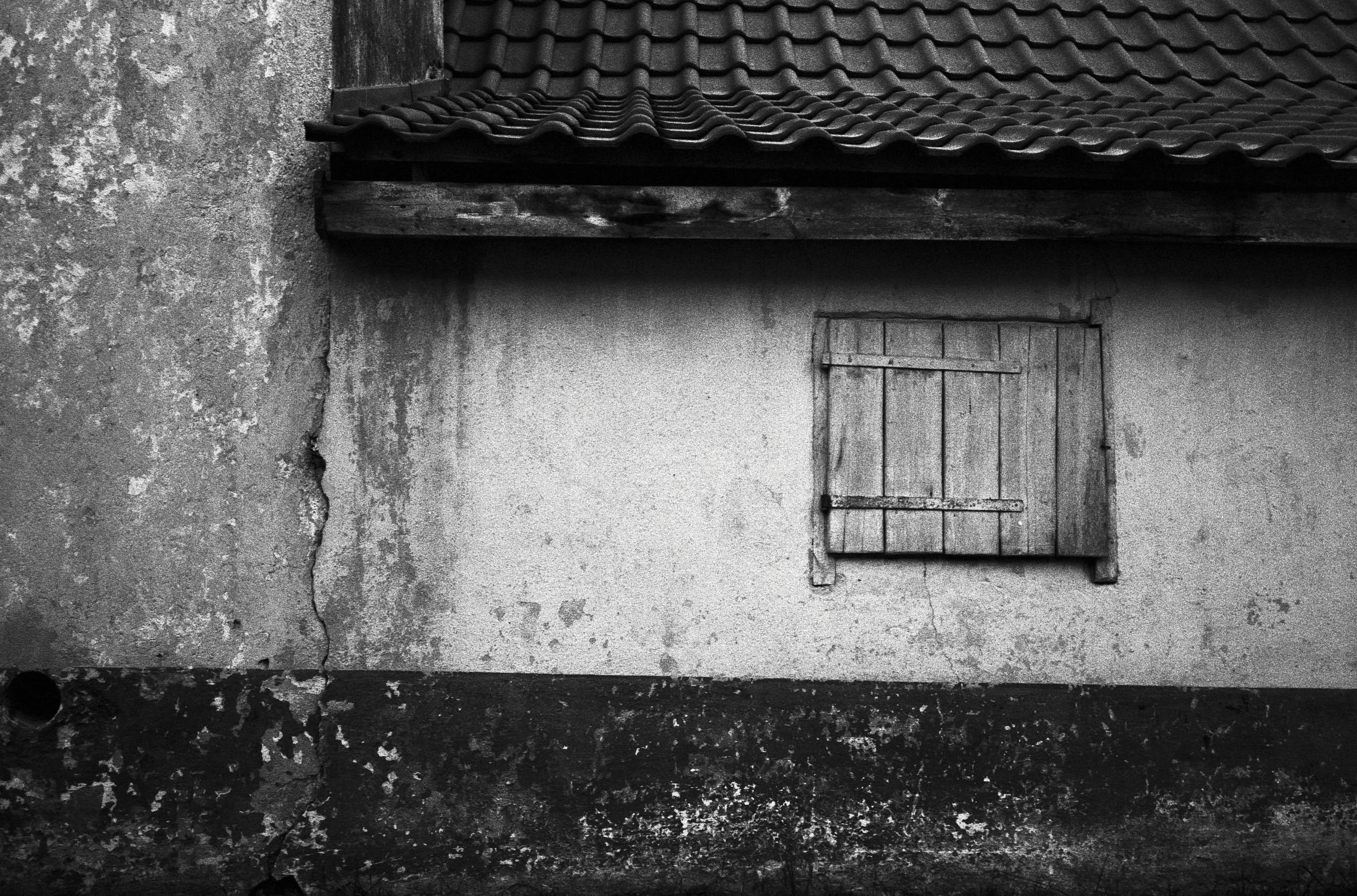 Black and white documentary photography: scenes from everyday life of a small village in the south of Czech Republic.